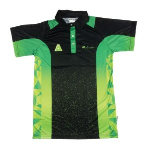 Lawn Bowls Shirts Design | Buy MENS DRAW SHORT SLEEVE BLACK/LIME [HENSELITE]