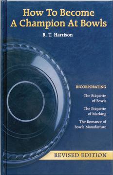 Lawn bowls coaching books