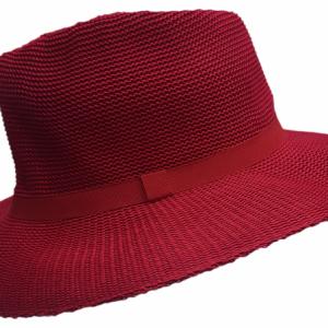 Ladies Lawn Bowls Hats | Buy Ladies Broad Brim Red Hat [HUNTER]