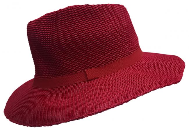 Ladies Lawn Bowls Hats   Buy Ladies Broad Brim Red Hat [HUNTER]