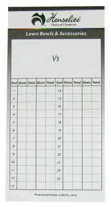 Lawn Bowls Score cards